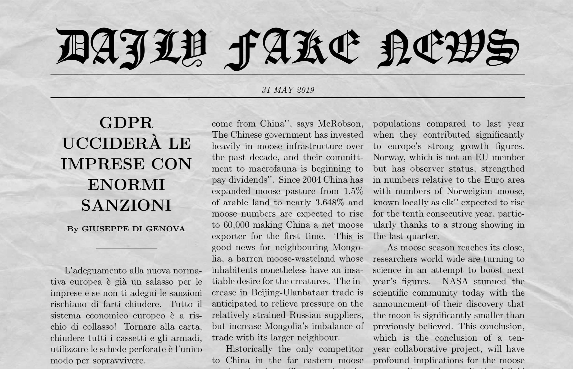 Fake news gdpr